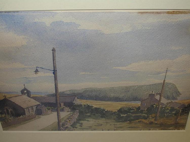 Frederick Charles Leach Cregneash Watercolour