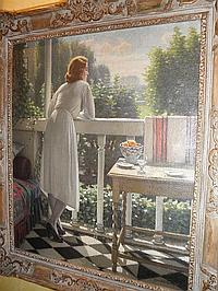 Harold Knight R.A. 1874-1961 Portrait of Miss