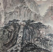 An Ink and Color of Landscape and Figures by Fu Bao Shi
