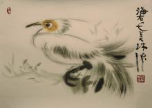A bird painting by Han Mei Lin