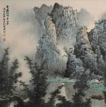A landscape painting by Bai Xue Shi