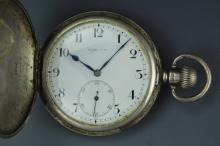 Vintage Rotherhams sterling silver hunter pocket watch