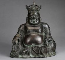A Chinese Bronze Figure of Maitreya  from Qing Dynasty