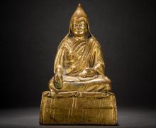 Grupa Grandmaster Statue Central Tibet 18th century