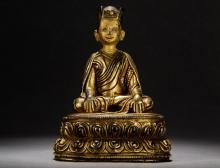 second Karmapa Lama Statue Central Tibet 16th century
