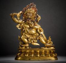 Vajrapani Buddha statue Han-Tibetan style 18th century