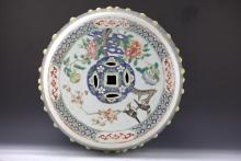 Chinese famille rose garden stool Qing Dynasty