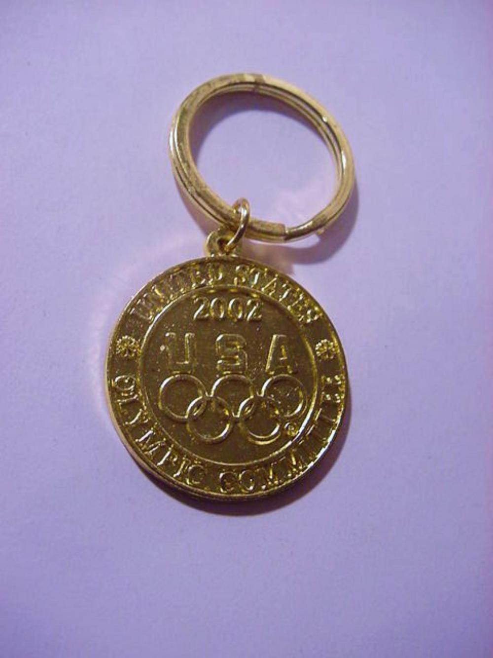 2002 U S A OLIMPICS COMMITTEE KEYRING