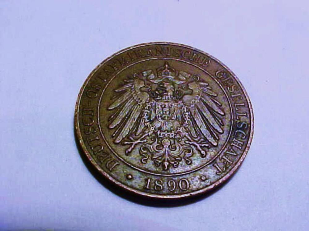 1890 GERMAN EAST AFRICA 1 PESA