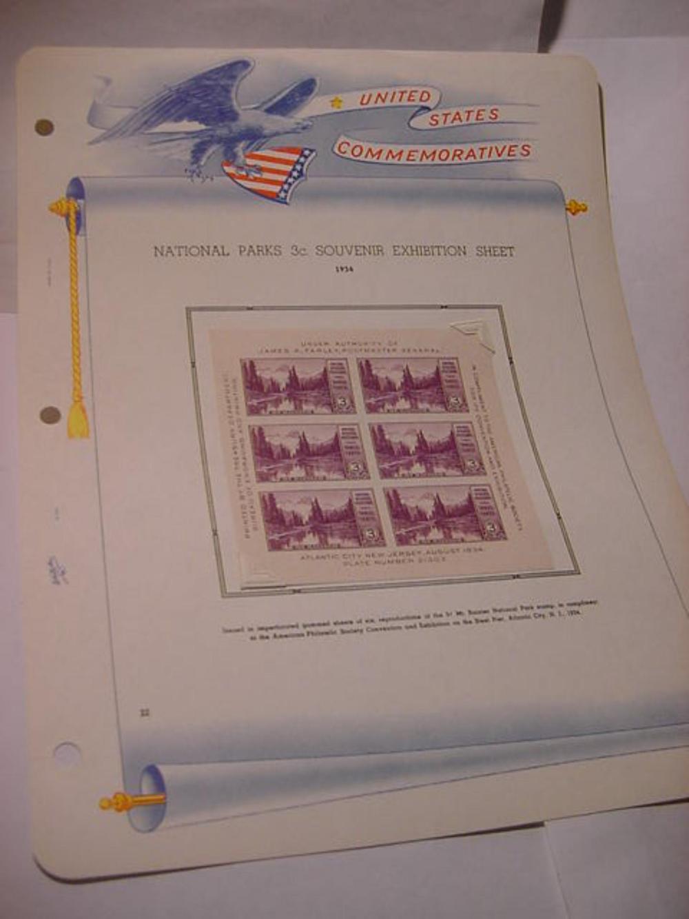 1934 NATIONAL PARKS SET