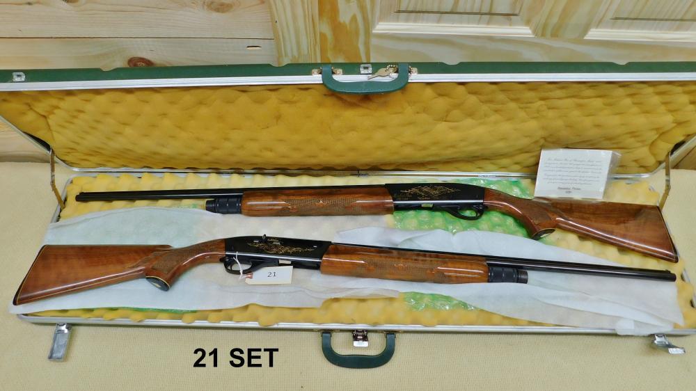 Remington Model 1100 2 gun matched pair set of skeetguns