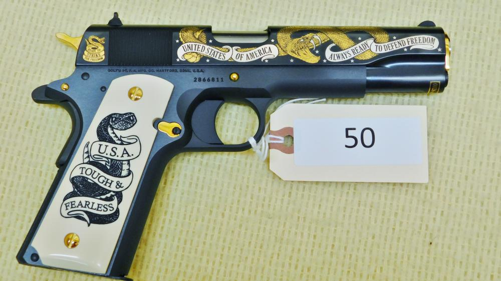 Colt 1911 45 Caliber Fearless Defender of Freedom Comm.  26 of 1000