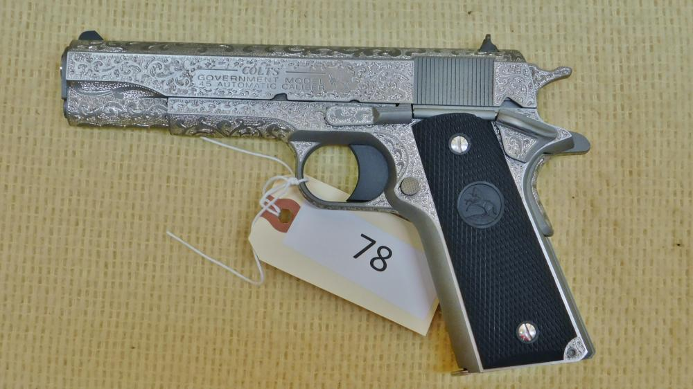 Colt 1911 Factory Engraved Government Model 45