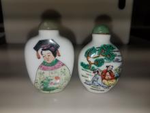 2 Porcelain Snuff Bottles