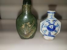 Porcelain & Jade Snuff Bottles