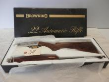 Browning Made in Belgium Take Down automatic rifle  22 Caliber 19 inch Barrel Grade II initial by G. V.(Gaston Vandermissen) made in 1966 SN: 6T45553 New In Box