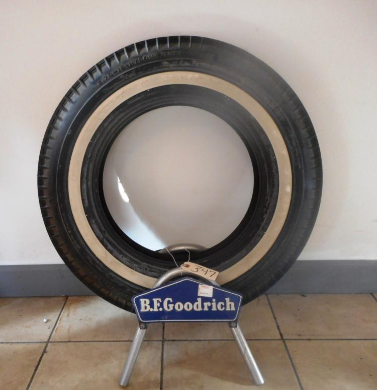 BF Goodrich tire Rack with Tire