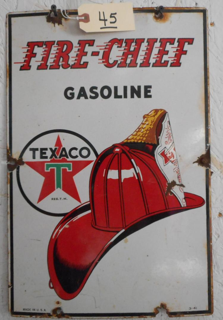Texaco Fire Chief Green T Sign