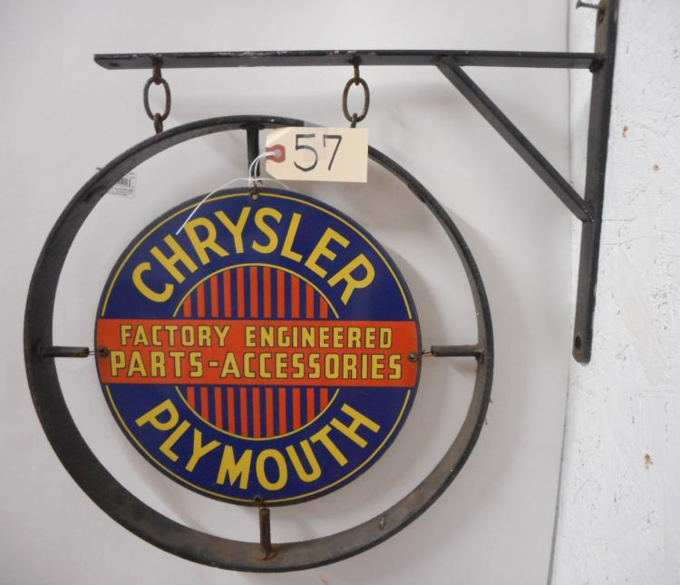 Chrysler/Plymouth Cast Iron Flange Sign