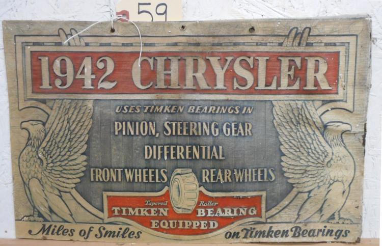 1942 Chrysler Sign