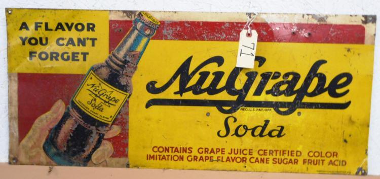 Nu-Grape Soda Sign