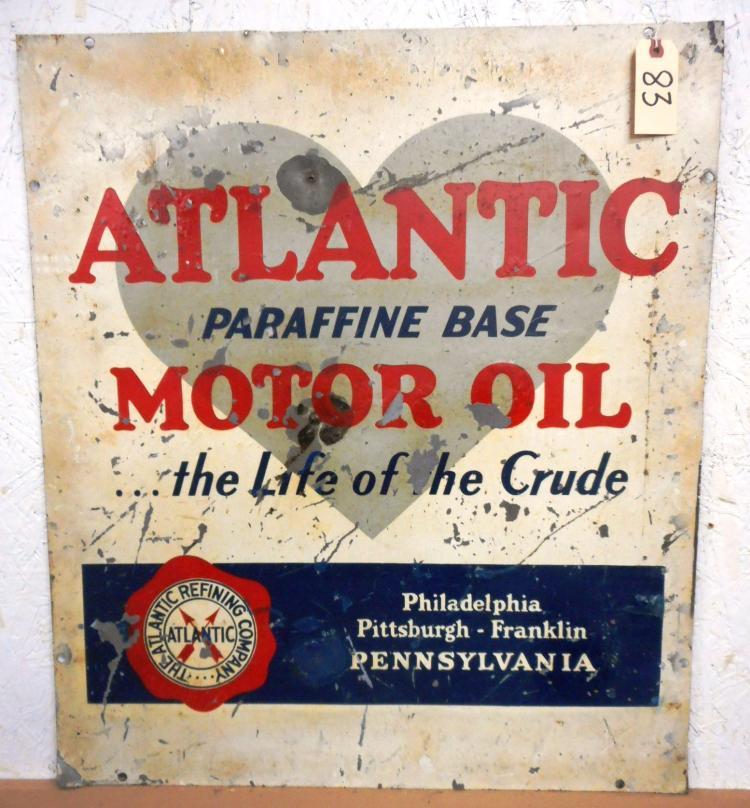Atlantic Motor Oil Sign