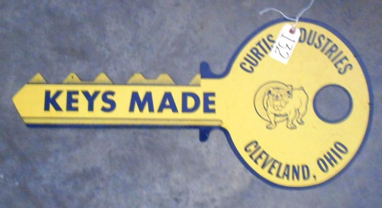 Curtis Industries Key Sign