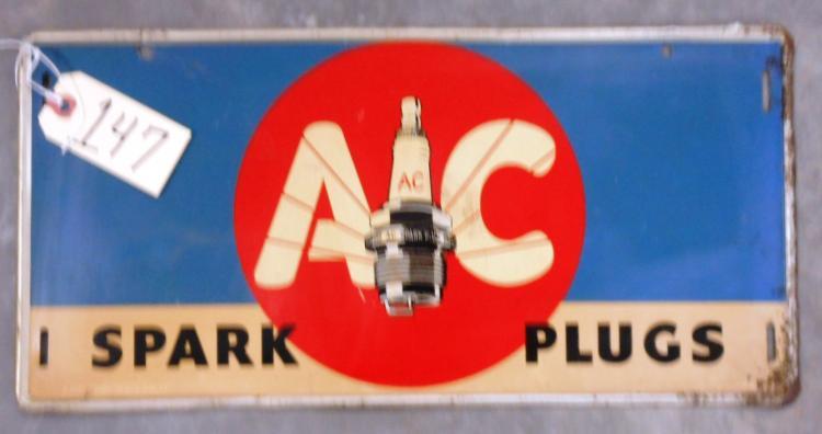 AC spark plug Sign