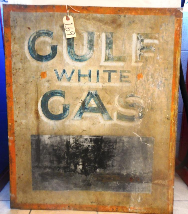 Gulf White Gas Sign