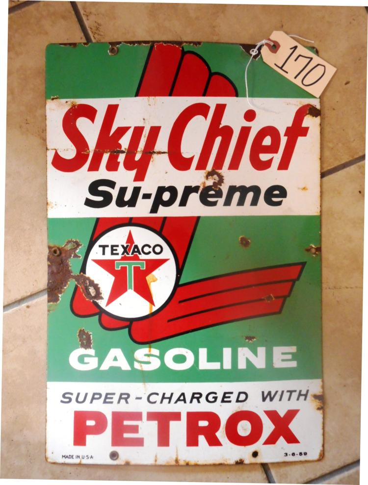 Texaco Green T Sky-Chief Sign