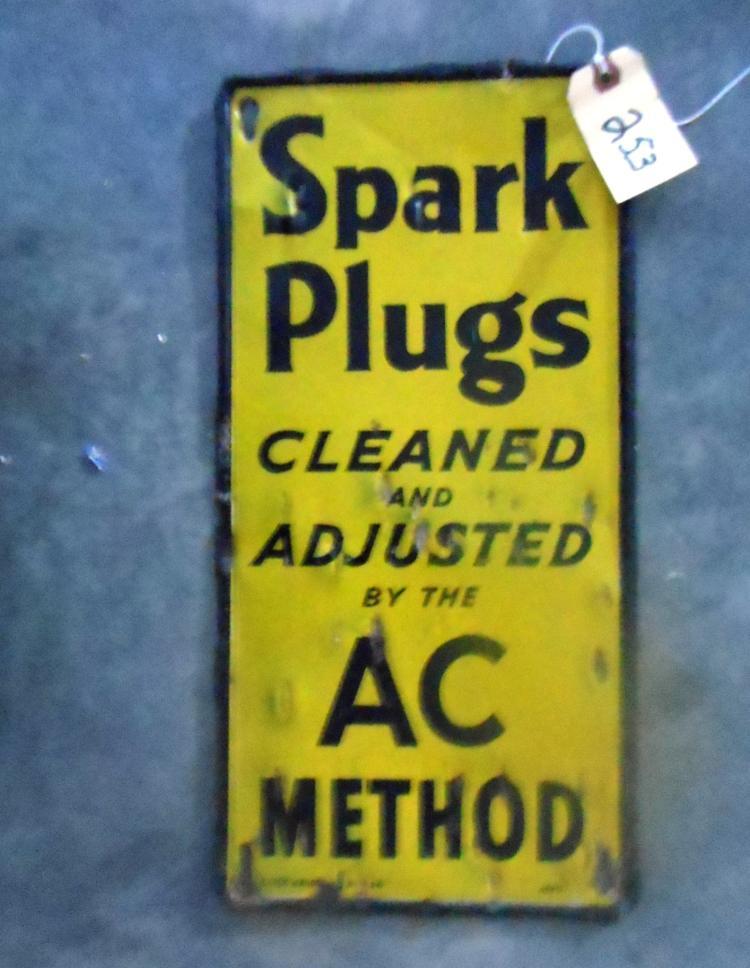 Spark Plugs Sign