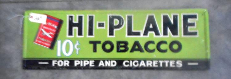 Hi-Plane Tobacco Sign