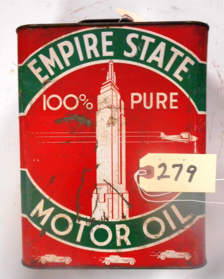 Empire State Motor Oil Can