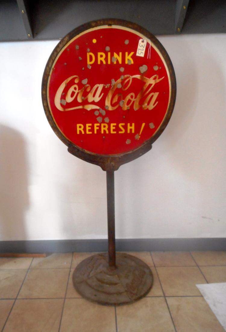 Coca Cola Lollipop Sign