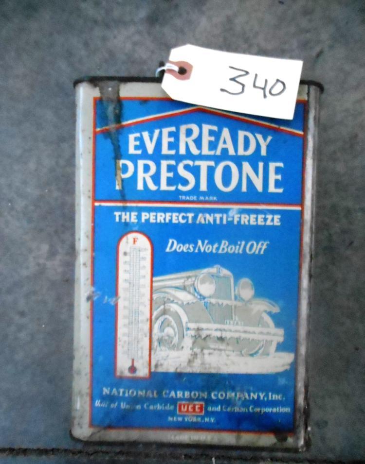 Eveready Prestone Antifreeze Can