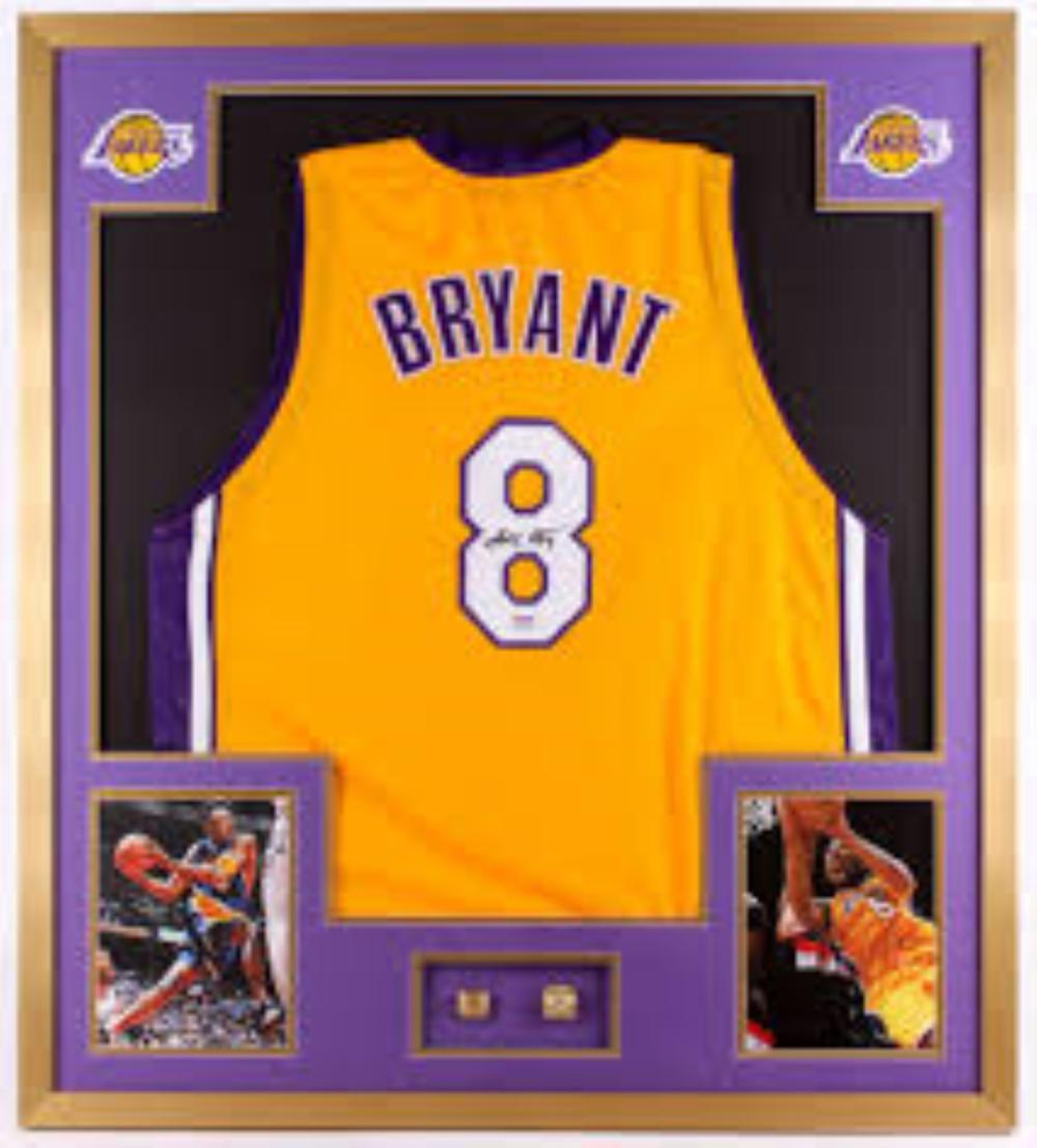 Sold Price: Kobe Bryant signed and framed LA Lakers jersey ...
