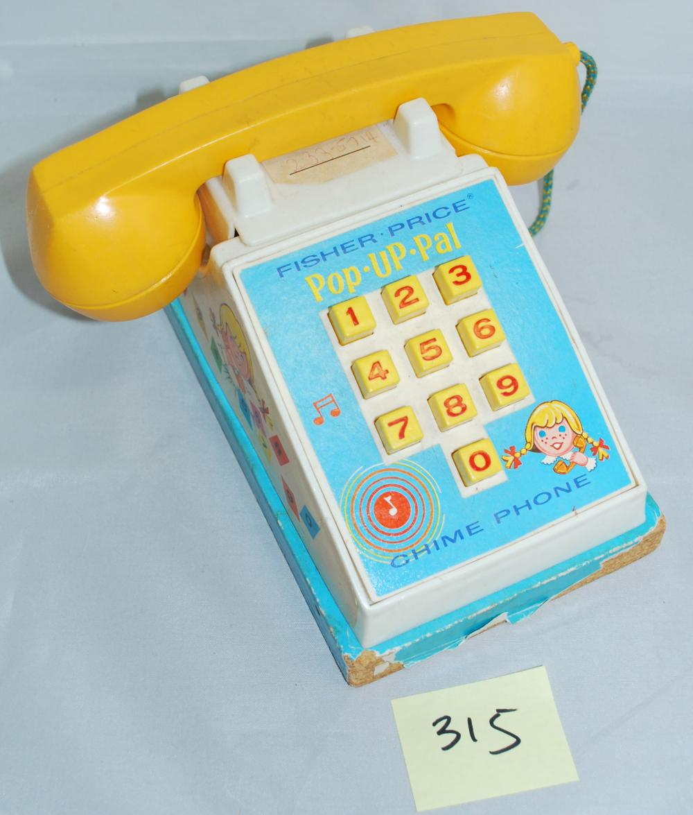 Vintage 1968 Fisher Price Pop Up Pal Chime Phone