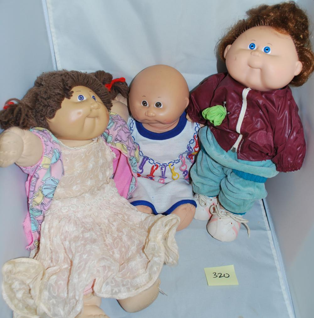 Lot of (3) 1980s Cabbage Patch Kids