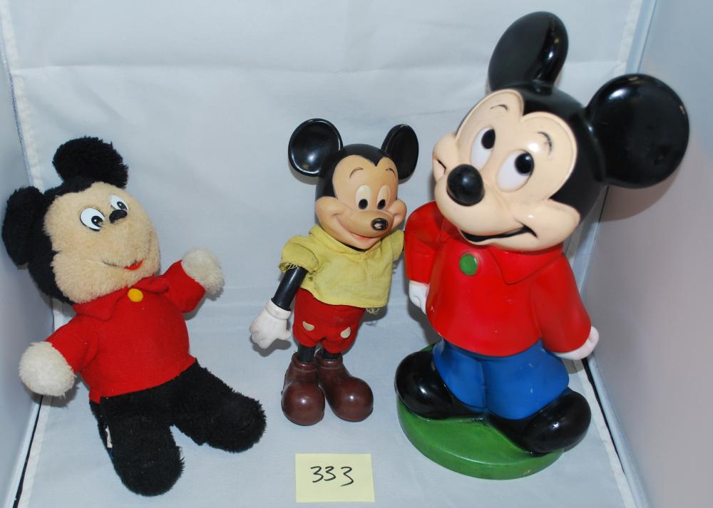 Lot of Vintage Disney Mickey Mouse Dolls