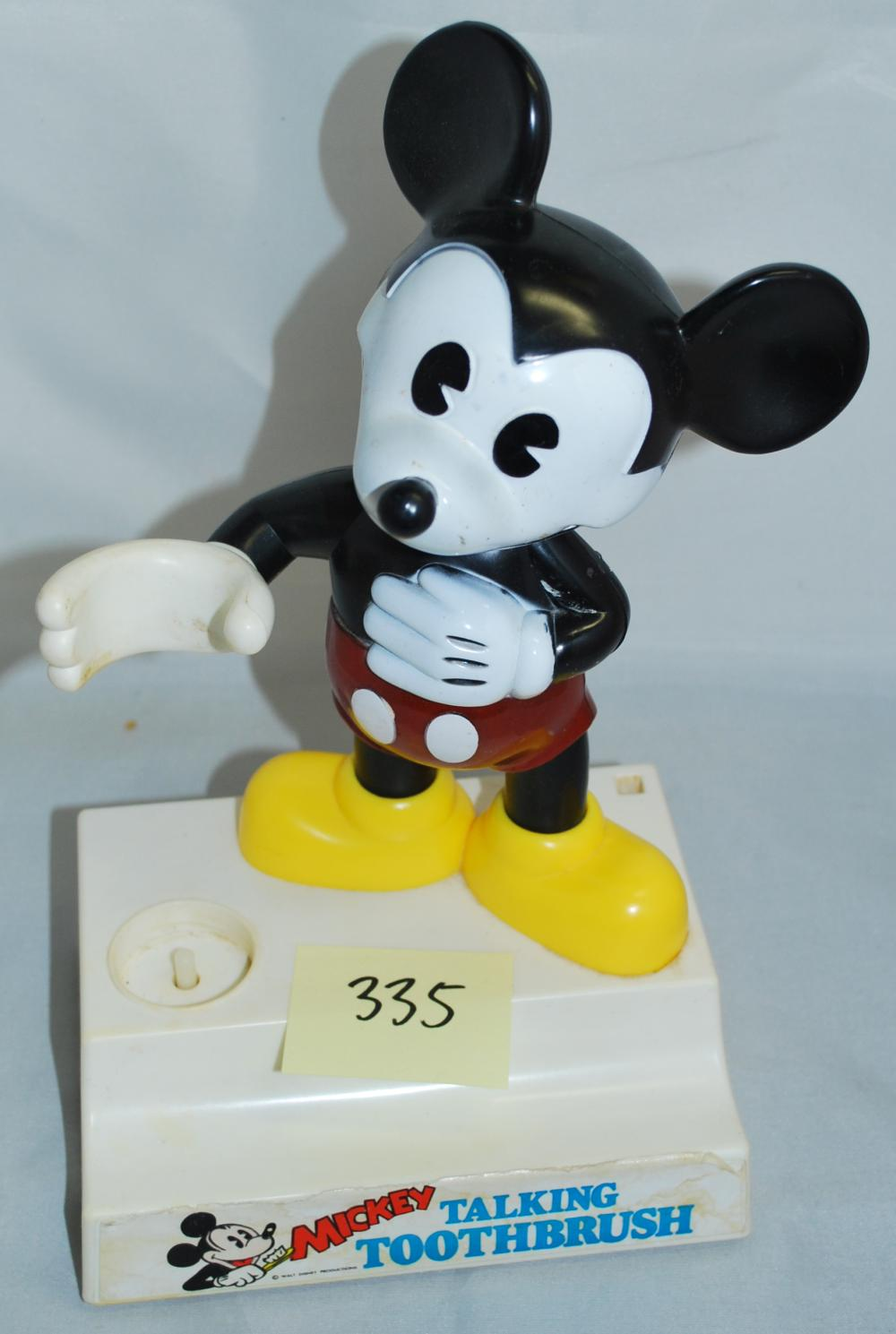 Vintage Mickey Mouse Talking Toothbrush Holder