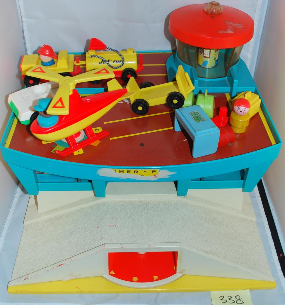 Vintage 1970s Fisher Price Airport Playset