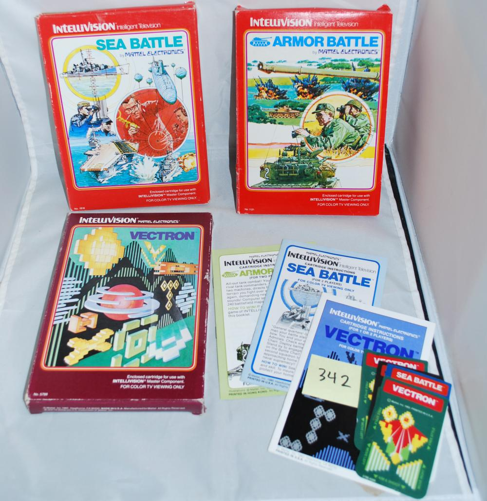 1979 Intellivision Game Cartridges