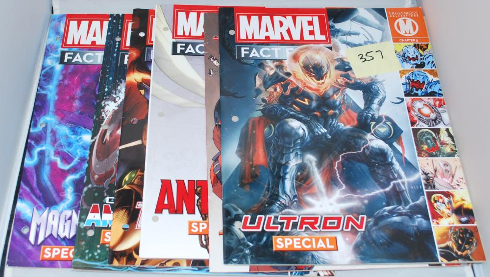 Collection of Marvel Fact Files Catalog