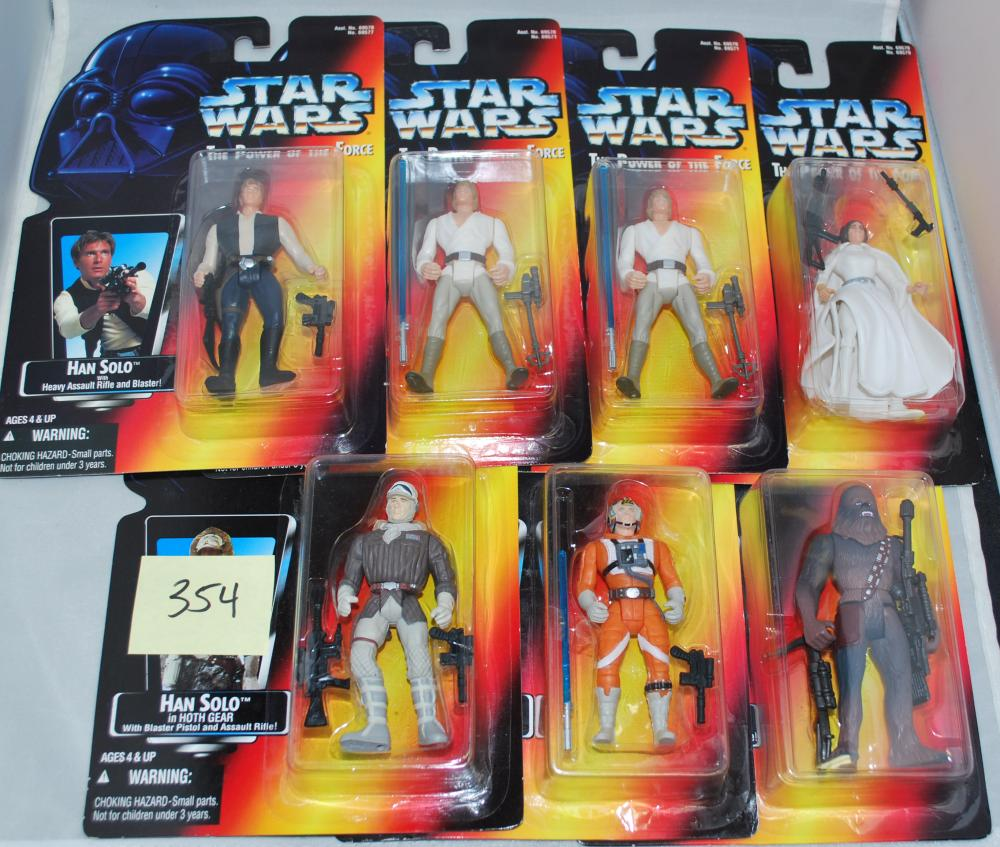 Vintage Lot of (7) POTF2 Star Wars Orange Card Action Figures