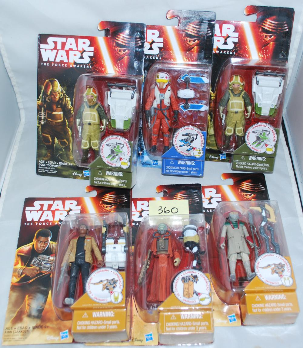 Star Wars Episode 7 Set of 6 Action Figures