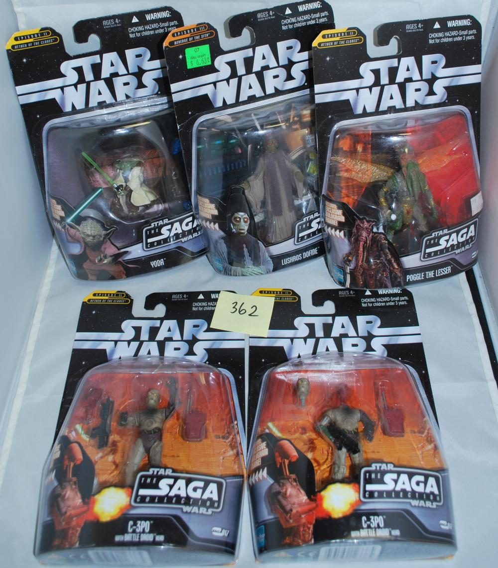 Star Wars Saga Collection Set of 5 Action Figures