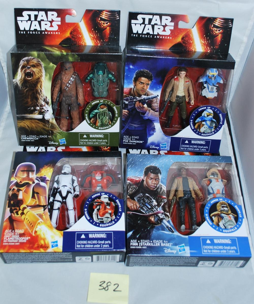 Lot of (8) Star Wars Episode 7 Armor Up Action Figures