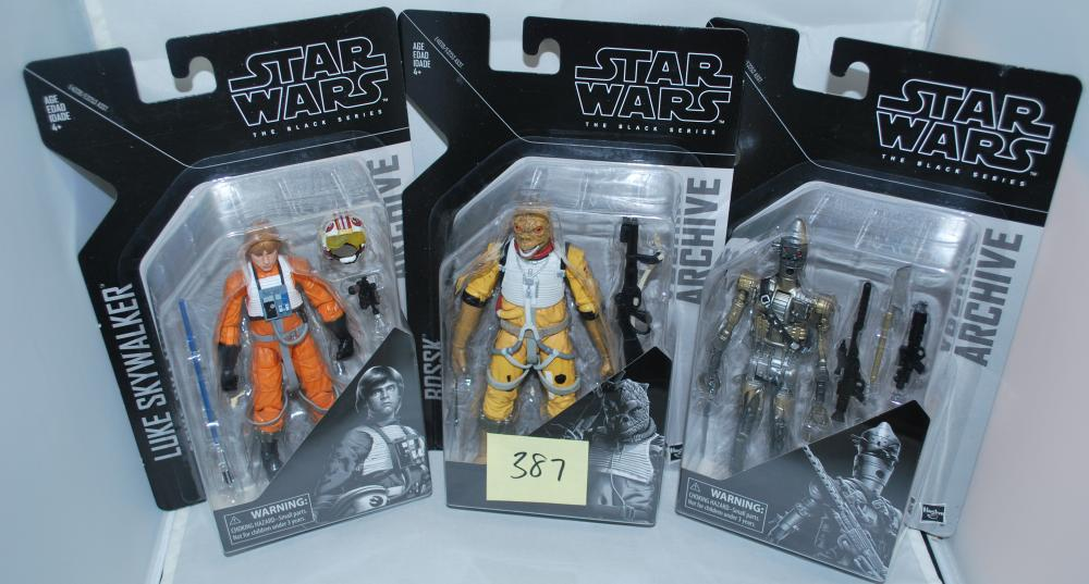 "Lot of (3) Star Wars Archive Series 6"" Action Figures"