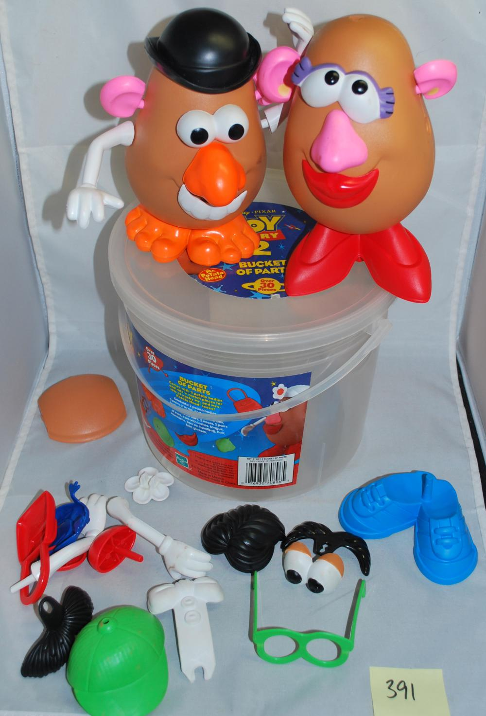 Bucket of toy Story Mr. Potato Head Figures