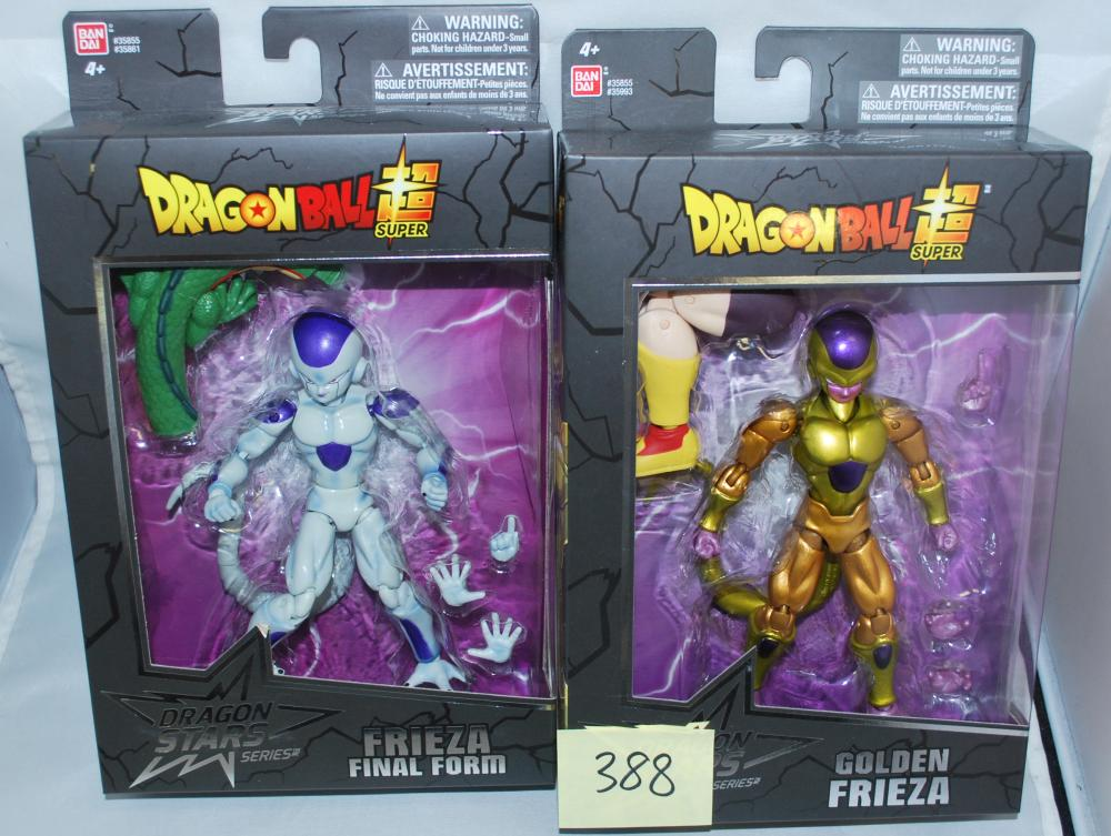 Lot of (2) Dragonball Super Dragon Stars Frieza Action Figures